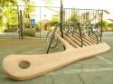 Паркинг за велосипеди във формата на гребен