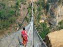 Kushma Gyadi - най-високият висящ мост в Непал